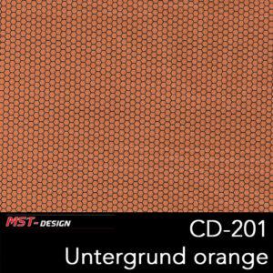 MST-Design, Wassertransferdruck, Folie CD-201, Untergrund orange
