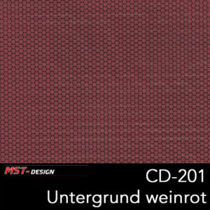 MST-Design, Wassertransferdruck, Folie CD-201, Untergrund weinrot