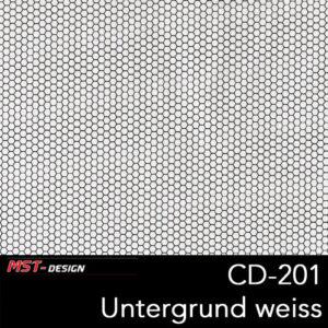 MST-Design, Wassertransferdruck, Folie CD-201, Untergrund weiß