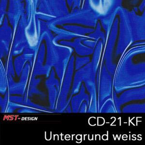 MST-Design, Wassertransferdruck, Folie CD-21-KF, Alien Style, Untergrund Weiß