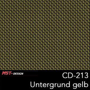 MST-Design, Wassertransferdruck, Folie CD-213, Untergrund gelb