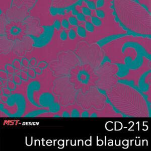 MST-Design, Wassertransferdruck, Folie CD-215, Blumen Style, Untergrund Blaugrün