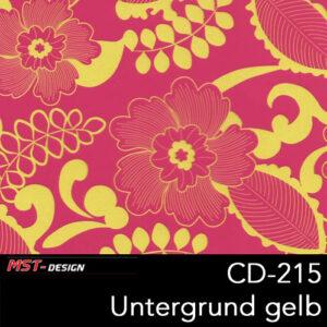 MST-Design, Wassertransferdruck, Folie CD-215, Blumen Style, Untergrund Gelb