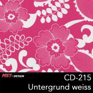 MST-Design, Wassertransferdruck, Folie CD-215, Blumen Style, Untergrund Weiß