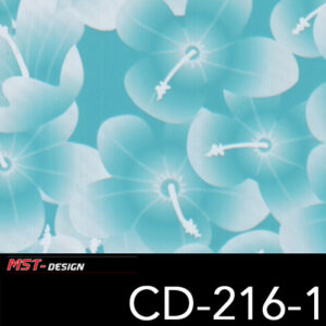 MST-Design, Wassertransferdruck, Folie CD-216-1, Blumen Style