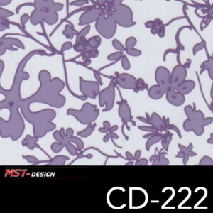 MST-Design, Wassertransferdruck, Folie CD-222, Blumen Style