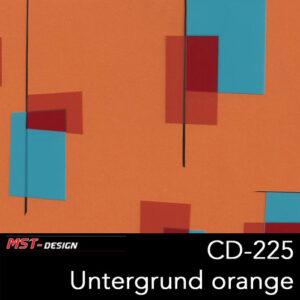 MST-Design, Wassertransferdruck, Folie CD-225, Untergrund orange