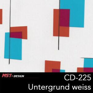 MST-Design, Wassertransferdruck, Folie CD-225, Untergrund weiß
