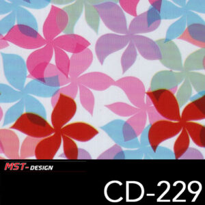 MST-Design, Wassertransferdruck, Folie CD-229, Blumen Style
