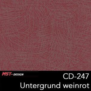 MST-Design, Wassertransferdruck, Folie CD-247, Untergrund weinrot