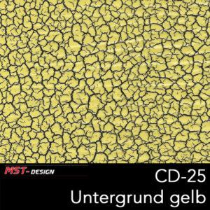 MST-Design, Wassertransferdruck, Folie CD-25, Untergrund gelb