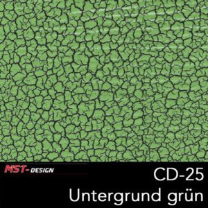 MST-Design, Wassertransferdruck, Folie CD-25, Untergrund grün