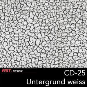 MST-Design, Wassertransferdruck, Folie CD-25, Untergrund weiß