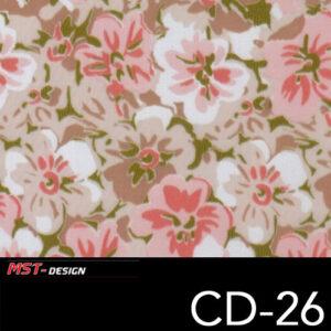 MST-Design, Wassertransferdruck, Folie CD-26, Blumen Style