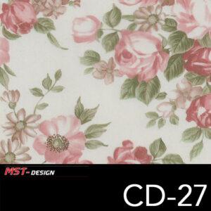 MST-Design, Wassertransferdruck, Folie CD-27, Blumen Style