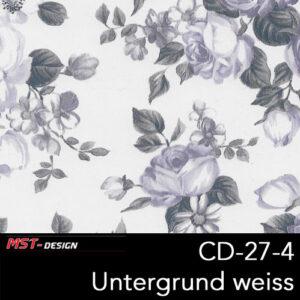 MST-Design, Wassertransferdruck, Folie CD-27-4, Blumen Style, Untergrund weiß