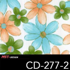 MST-Design, Wassertransferdruck, Folie CD-277-2, Blumen Style
