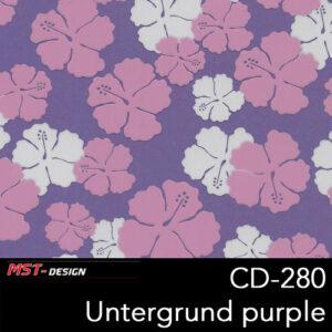 MST-Design, Wassertransferdruck, Folie CD-280, Blumen Style, Untergrund Purple