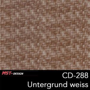 MST-Design, Wassertransferdruck, Folie CD-288, Untergrund weiß