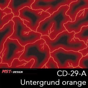 MST-Design, Wassertransferdruck, Folie CD-29-A, Blitz Style, Untergrund Orange