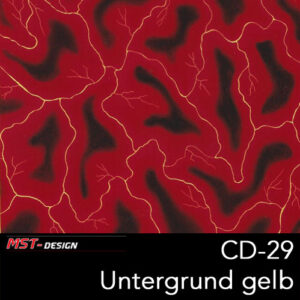 MST-Design, Wassertransferdruck, Folie CD-29, Blitz Style, Untergrund Gelb
