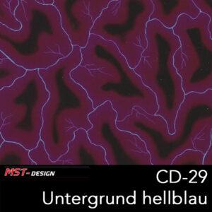 MST-Design, Wassertransferdruck, Folie CD-29-A, Blitz Style, Untergrund Hellblau