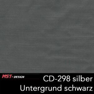 MST-Design, Wassertransferdruck, Folie CD-298 silber, Untergrund schwarz