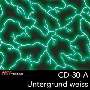 MST-Design, Wassertransferdruck, Folie CD-30-A, Blitz Style, Untergrund Weiß