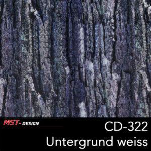MST-Design, Wassertransferdruck, Folie CD-322, Untergrund weiß