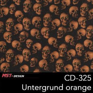 MST-Design, Wassertransferdruck, Folie CD-325, Untergrund orange