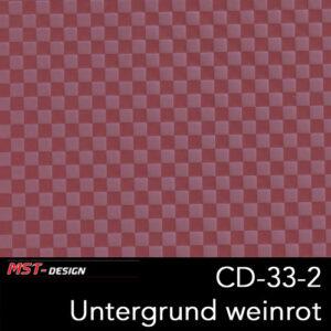 MST-Design, Wassertransferdruck, Folie CD-33-2, Untergrund weinrot