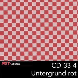 MST-Design, Wassertransferdruck, Folie CD-33-4, Untergrund rot