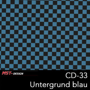 MST-Design, Wassertransferdruck, Folie CD-33, Untergrund blau