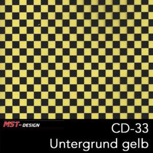MST-Design, Wassertransferdruck, Folie CD-33, Untergrund gelb
