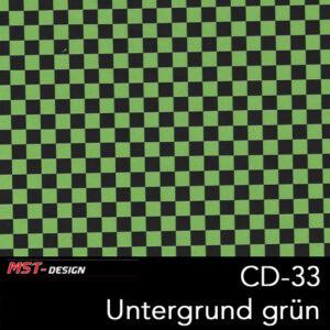MST-Design, Wassertransferdruck, Folie CD-33, Untergrund grün