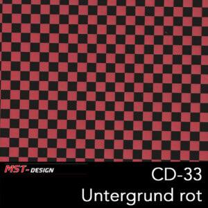 MST-Design, Wassertransferdruck, Folie CD-33, Untergrund rot