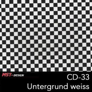 MST-Design, Wassertransferdruck, Folie CD-33, Untergrund weiß