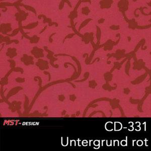 MST-Design, Wassertransferdruck, Folie CD-331 Blumen Style, Untergrund rot