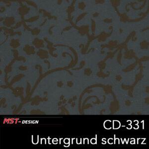 MST-Design, Wassertransferdruck, Folie CD-331, Blumen Style, Untergrund schwarz