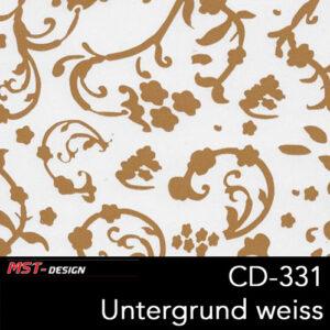 MST-Design, Wassertransferdruck, Folie CD-331, Blumen Style, Untergrund weiß