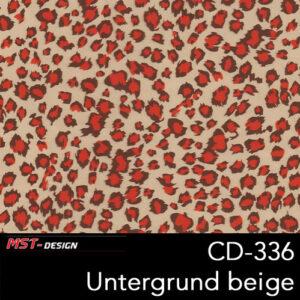 MST-Design, Wassertransferdruck, Folie CD-336, Untergrund beige