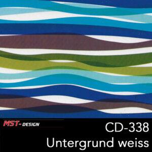 MST-Design, Wassertransferdruck, Folie CD-338, Untergrund weiß