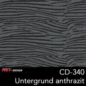 MST-Design, Wassertransferdruck, Folie CD-340, Untergrund anthrazit