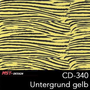 MST-Design, Wassertransferdruck, Folie CD-340, Untergrund gelb