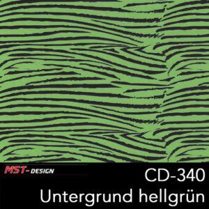 MST-Design, Wassertransferdruck, Folie CD-340, Untergrund hellgrün