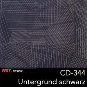MST-Design, Wassertransferdruck, Folie CD-344, Untergrund schwarz