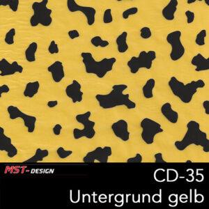 MST-Design, Wassertransferdruck, Folie CD-35, Untergrund gelb