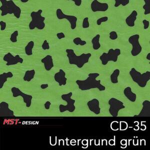 MST-Design, Wassertransferdruck, Folie CD-35, Untergrund grün