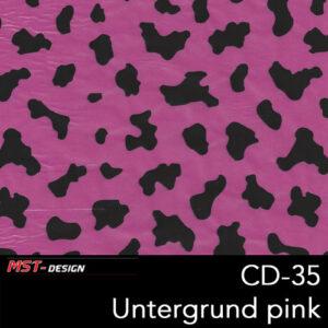 MST-Design, Wassertransferdruck, Folie CD-35, Untergrund pink