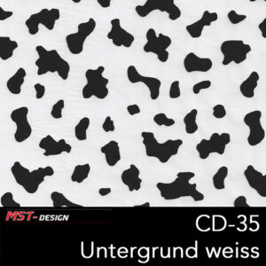 MST-Design, Wassertransferdruck, Folie CD-35, Untergrund weiß